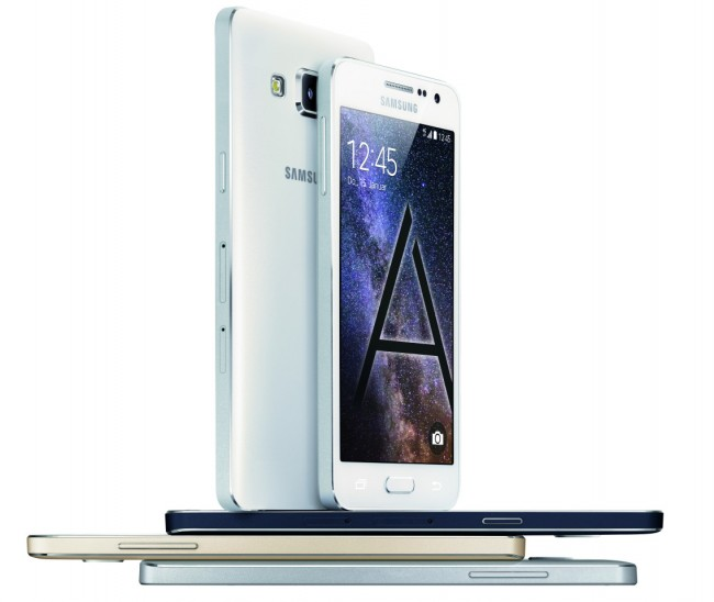 Die Smartphones von Samsung (im Bild: die Galaxy-Modelle A3 und A5) müssen sich einerseits gegen preiswerte Konkurrenten aus China durchsetzen und andererseits im High-End-Bereich gegen das iPhone 6. (Foto: Samsung)
