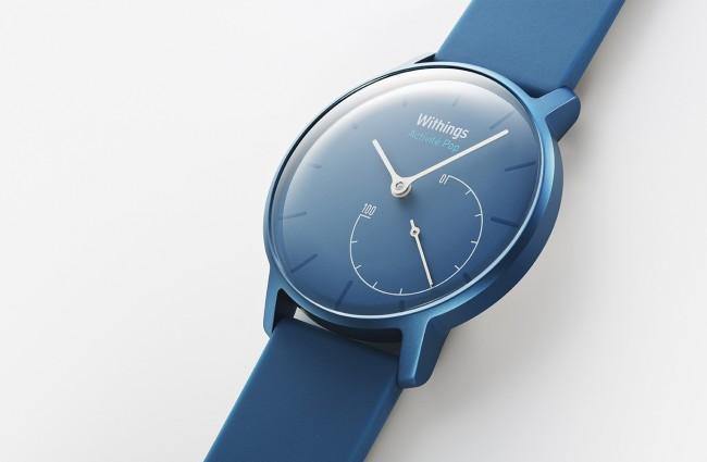 Das größere Zifferblatt der Activité-Pop-Uhr widmet sich der Uhrzeit, das kleinere zeigt dem Benutzer an, wie nahe er seinem Aktivitätsziel bereits gekommen ist. (Foto: Withings)