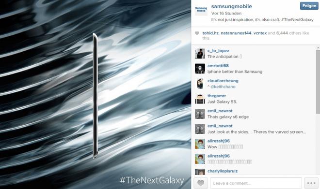 Mit Teasern wie diesem auf Instagram heizt Samsung die Gerüchteküche ordentlich an.