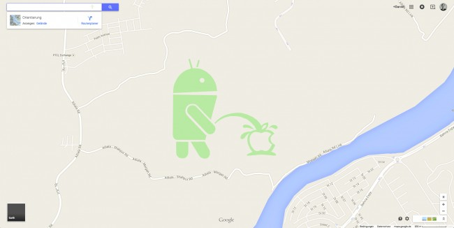 Urinierender Android