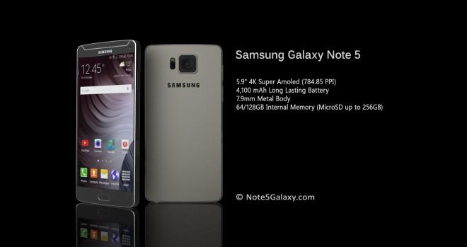 Ein Traum aus Metall: Das Konzept des Galaxy Note 5. (Bild: Note5Galaxy.com)