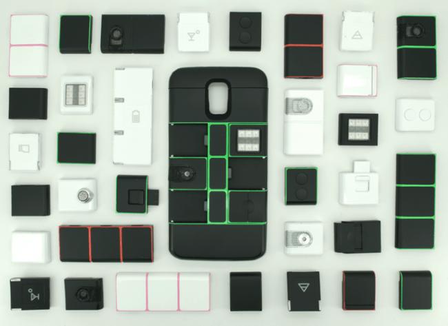 Zur Auswahl stehen unter anderem Module, die dem Smartphone eine Festplatte, eine Taschenlampe, einen Laser-Pointer oder einen Temperatursensor hinzufügen. (Foto: Nexpaq, Inc.)