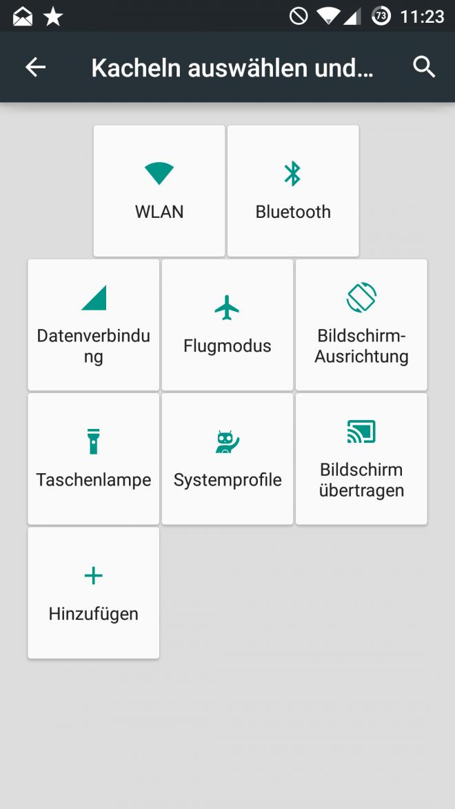 Wie bei CyanogenMod, wird künftig auch die Anpassung der Quick-Settings möglich sein.