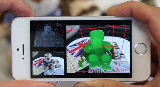 """Die neue Microsoft-App """"MobileFusion"""" soll es erlauben, mit einem Smartphone dreidimensionale Scans herzustellen. (Foto: Microsoft Research)"""