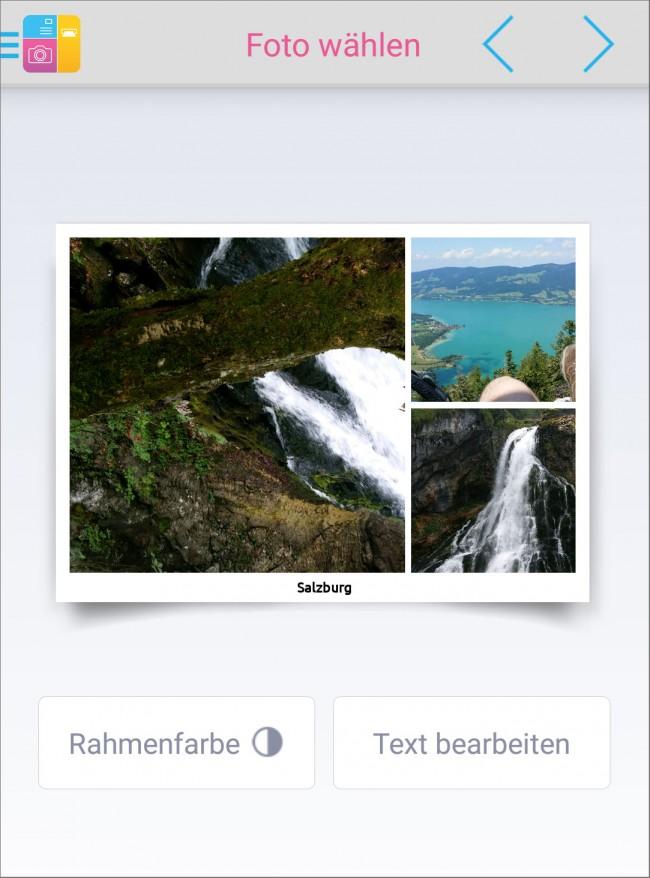 Eigene Fotos, ein persönlicher Text, liebe Grüße – und schon ist die individuelle Postkarte zum Versand bereit.