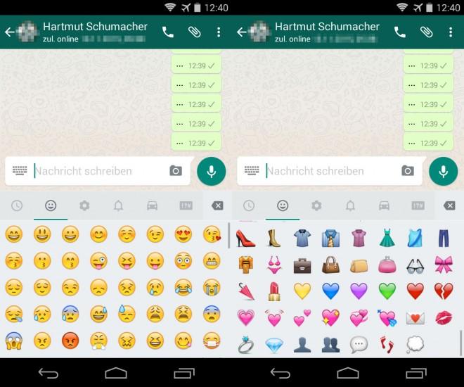 Die Android-Version von WhatsApp hinkt ihrem iOS-Gegenstück bei den Emojis derzeit etwas hinterher.