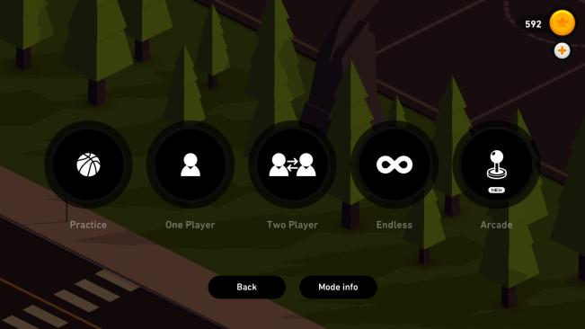 HOOP bietet zwar unterschiedliche Spielmodi an, das Gameplay ändert sich aber nicht.