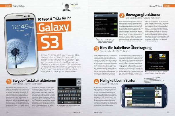 Android Magazin 8 - Galaxy S3 Tricks (2 von 4 Seiten)