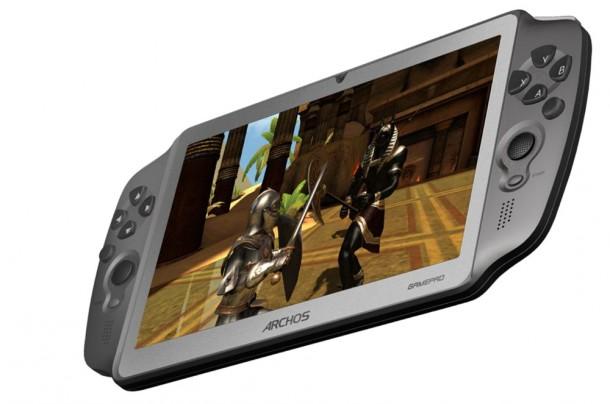 Das Archos Gampad läuft mit Android und lässt sich mittels mini-HDMI-Anschluss auch mit einem TV-Gerät oder Beamer verbinden. Foto: Archos.com.