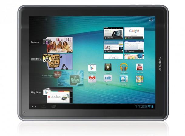 Das Archos 97 Carbon Tablet läuft mit Android 4.0 ice Cream Sandwich und besitzt einen HDMI-Ausgang zur Videoübertragung auf TV-Geräte und Beamer. Foto: Archos.com.