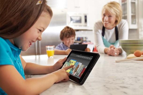 Das Amazon Kindle Fire ist eines der beliebtesten Android Tablets. Foto: Amazon.com.