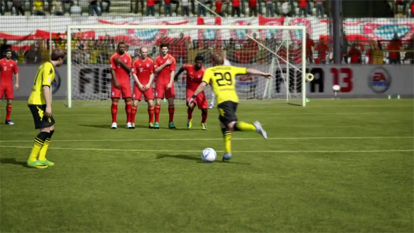 FIFA 13 für Android garantiert Spannende Matches und ordentliche Fußballaction. Foto: EA.