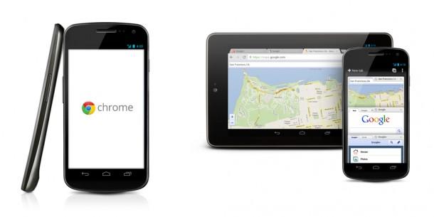 Der Google Chrom Browser soll bei Android Jellybean den bisherigen Android Browser ersetzen. Foto: Google.com.
