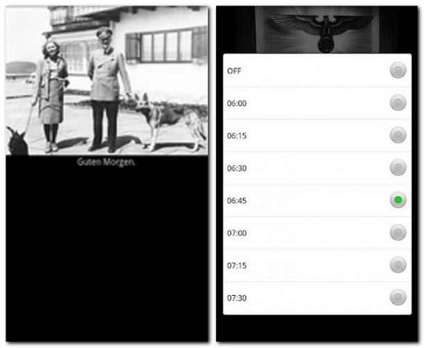 Auf der Suche nach einem unverfänglichen Screenshot: Hier lässt sich die Weckzeit einstellen. Nein, das müssen wir in einer solchen App nicht haben!