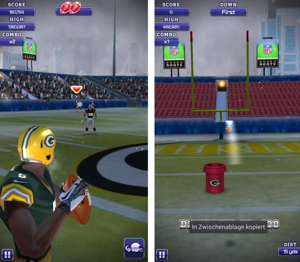Schlüpf in die Rolle eines NFL-Quarterbacks, verbessere deine Fähigkeiten und führ dein Team zum Sieg!