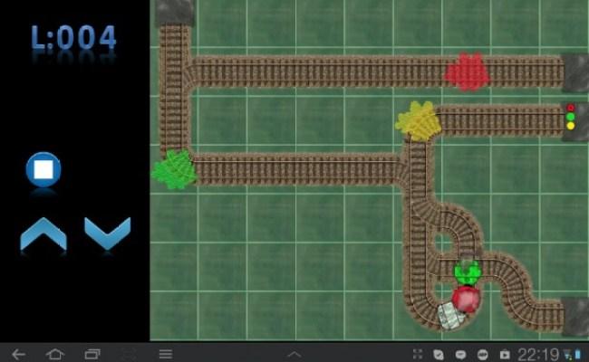 Du musst nun die Strecke durch Vertauschen der Weichen so wählen, dass du die benötigte Anzahl an Waggons erhältst, also entsprechend oft durch die farbigen Wolken fährst und hinterher in den gekennzeichneten Tunnel.