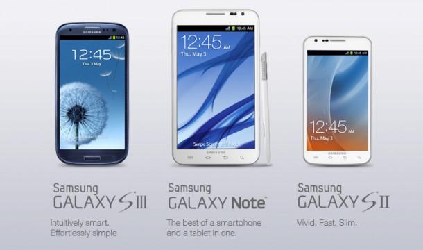 Samsung gewährt Rabatt auf das Galaxy S3, Galaxy Note und Galaxy S2 bei Rückgabe eines älteren Smartphones. Foto: Samsung Mobile USA.