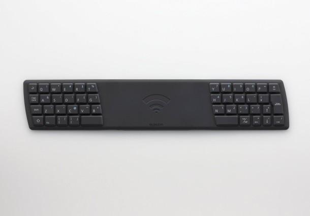 Das NFC Keyboard von Elecom ermöglicht das Komfortable schreiben am Smartphone via NFC Technologie. Foto: Elecom.