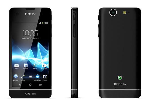 Sony Xperia SX in Schwarz. Foto: Sony