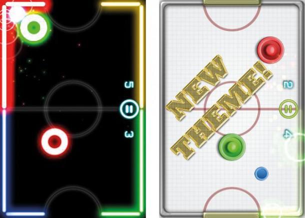 Glow Hockey 2 ist die neuauflage von Airhockey mit mehr Glow-Effekten.