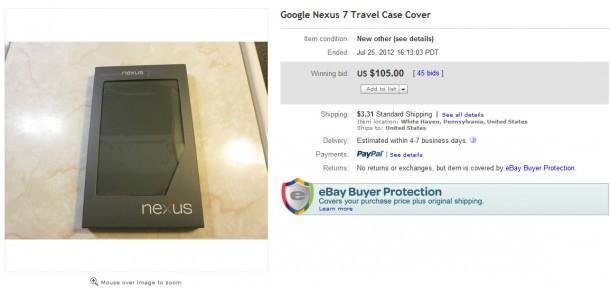 Das Cover für das Nexus 7 Tablet kann derzeit für 100 Dollar bei eBay erworben werden.