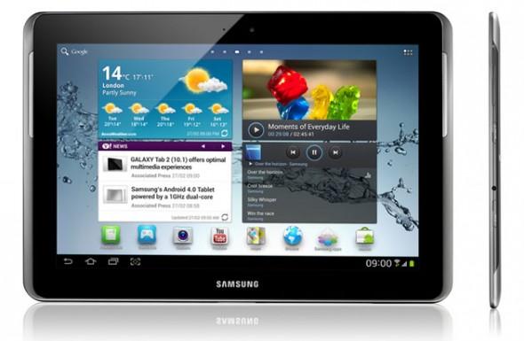 So sieht das neue Galaxy Tab 2 in der 10.1 Variante von Samsung aus.