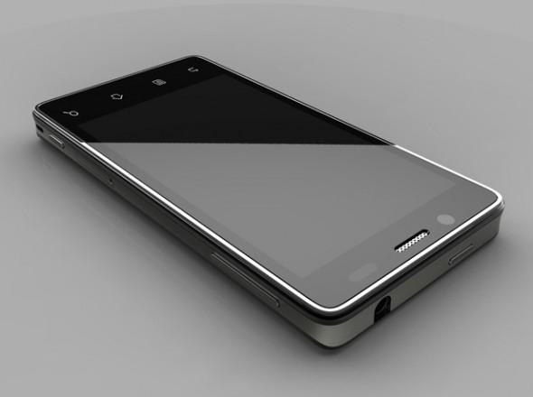 Sieht dem iPhone recht ähnlich: Der Prototyp des ersten Intel-Smartphones. (Foto: technologyreview.com)