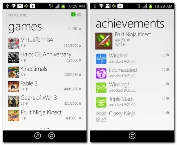 Mit der Xbox Live kann der Nutzer nun auch unterwegs auf seine Erfolge zugreifen und diese beispielsweise einem Freund zeigen.