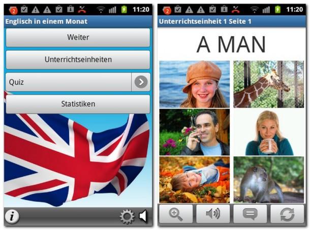 Mit der mobilen Anwendung Englisch in einem Monat lernen Sie die Englische Sprache einfach und schnell.
