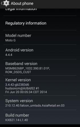 Moto G Android 4.4.4 KitKat Update India