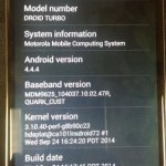 Verizon Droid Turbo - About Phone