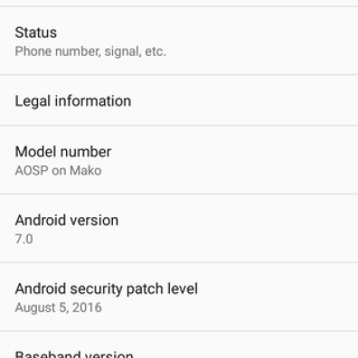 Install Android 7.0 Nougat On Nexus 4 Port from Official AOSP ROM
