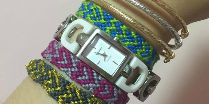 heart thread bracelet