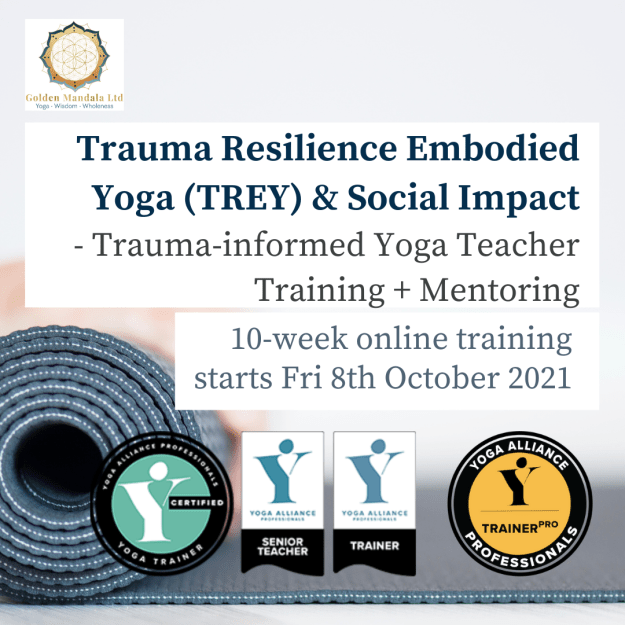 trauma-informed yoga teacher training, TREY, yoga for trauma recovery, trauma sensitive yoga