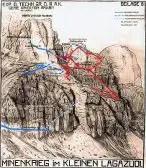 Esquema de los túneles de Lagazuoi