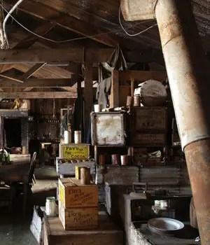 Interior de la choza de Scott