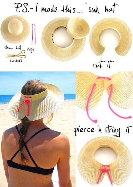 Sombrero para la playa sol
