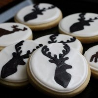 Deer Silhouette Sugar Cookies