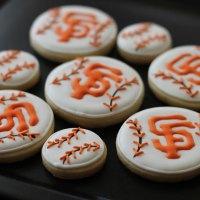 SF Giants Sugar Cookies
