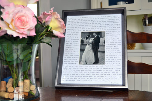First Dance Lyrics On Picture Mat For Wedding Art