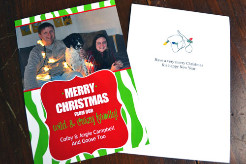 Campbell Family Christmas Card 2012