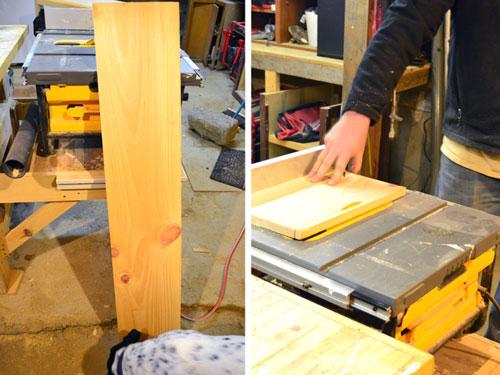 iPad Stand Step 2 Cut The Wood