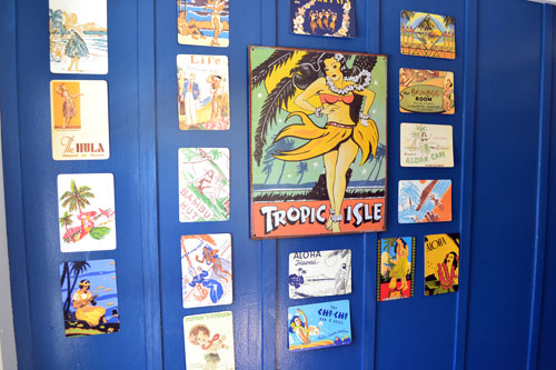 Hula Girl Postcard Art In The Entry