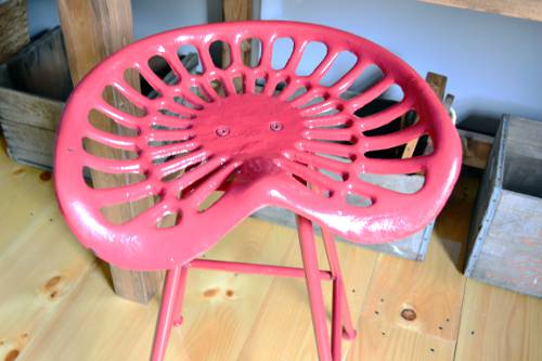 Metal Tractor Seat Stool