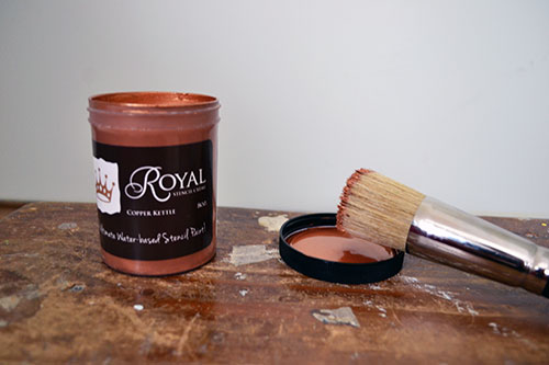 Copper Kettle Stencil Creme From Royal Design Studio