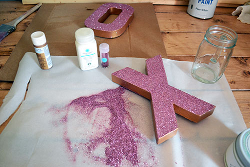 Glittering Front Of XO Letters