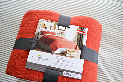 Coral Target Threshold Quilt Bedroom Inspiration