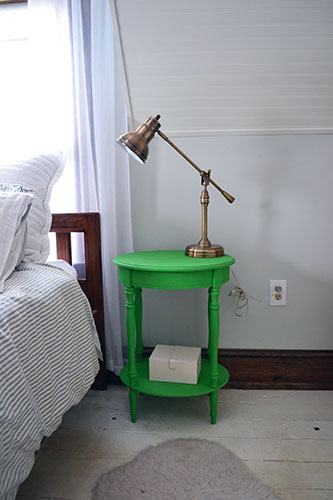 Green Nightstand Pre Styling
