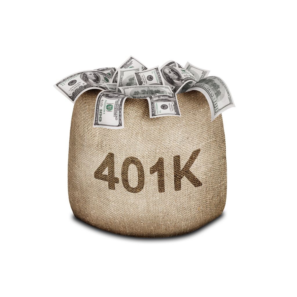 This is a grossly inaccurate picture of how 401(k)s operate. [Photo courtesy of 401kcalculator.org]