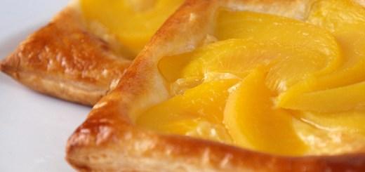 Peach and Custard Danish Pastry